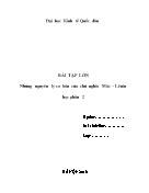 Bài tập lớn những nguyên lý cơ bản của chủ nghĩa Mác – Lênin