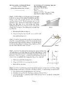 Đề thi học kỳ I năm học 2016 - 2017 môn: Vật lý đại cương 1 - Mã môn học: Phys130102