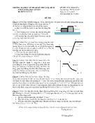 Đề thi môn: Vật lý 1 - Mã môn học: PHYS 130102