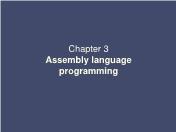 Điện, điện tử - Chapter 3: Assembly language programming