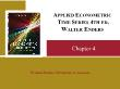 Kinh tế học - Chapter 4: Applied econometric time series 4th ed. walter enders