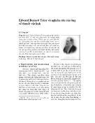 Nghiên cứu tôn giáo - Edward Burnett Tylor và nghiên cứu của ông về thuyết vật linh