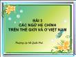 Ngôn ngữ học - Bài 3: Các ngữ hệ chính trên thế giới và ở Việt Nam