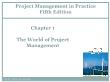Quản lí dự án - Chapter 1: The world of project management