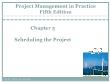 Quản lí dự án - Chapter 5: Scheduling the project