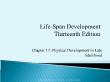 Tâm lý học - Chapter 17: Physical development in late adulthood