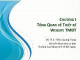 Thương mại điện tử - Chương 1: Tổng quan về thiết kế website Thương mại điện tử