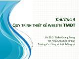 Thương mại điện tử - Chương 4: Quy trình thiết kế website Thương mại điện tử