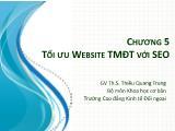 Thương mại điện tử - Chương 5: Tối ưu website tmđt với seo