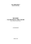Bài giảng Tai mũi họng thực hành