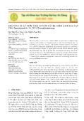 Nông nghiệp - Khả năng xử lý nước thải ao nuôi cá tra thâm canh của vạn thọ (tagetes patula l.) và cúc (chrysanthemum spp.)