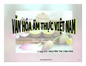 Tài liệu về Văn hóa ẩm thực Việt Nam