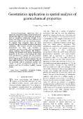 Geostatistics application in spatial analysis of geomechanical properties