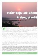 Thuỷ điện sông Mê Kông - Ai được, ai mất?