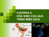 Bài giảng hoá sinh động vật - Chương II: Hoá sinh của quá trình miễn dịch
