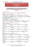 Giải chi tiết đề thi thpt quốc gia 2018 môn sinh học (4 đề gốc) - Ts. Phan Khắc Nghệ