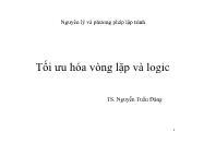 Bài giảng Tối ưu hóa vòng lặp và logic - Nguyễn Tuấn Đăng