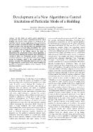 Development of a New Algorithm to Control Excitation of Particular Mode of a Building
