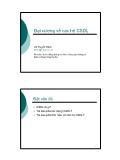 Giáo trình nhập môn Cơ sở dữ liệu - Chương 1: Đại cương về các hệ Cơ sở dữ liệu - Vũ Tuyết Trinh