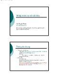 Giáo trình nhập môn Cơ sở dữ liệu - Chương 1: Tổng quan về môn học - Vũ Tuyết Trinh