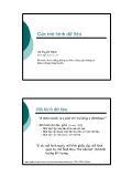 Giáo trình nhập môn Cơ sở dữ liệu - Chương 2: Các mô hình dữ liệu - Vũ Tuyết Trinh