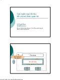 Giáo trình nhập môn Cơ sở dữ liệu - Chương 3: Các ngôn ngữ dữ liệu đối với mô hình quan hệ - Vũ Tuyết Trinh
