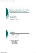 Giáo trình Thiết kế và quản trị cơ sở dữ liệu - Chương 1: Thiết kế và quản trị cơ sở dữ liệu: Nhắc lại các kiến thức cơ bản - Vũ Tuyết Trinh