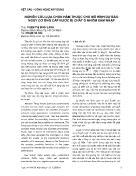 Nghiên cứu lựa chọn hàm thuộc cho mô hình dự báo nguy cơ ống cấp nước bị chất ô nhiễm xâm nhập
