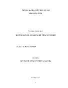 Tài liệu giảng dạy hướng dẫn Đồ án khung bê tông cốt thép